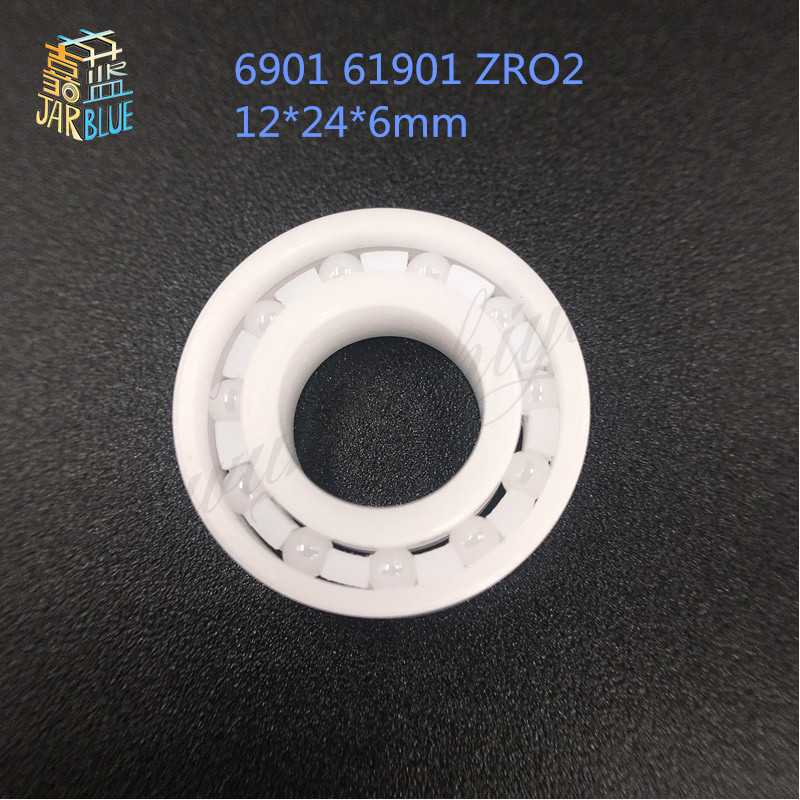 Free Shipping 6901 61901 ZRO2 Full ceramic bearing ball bearing 12*24*6mm for bicycle part free shipping 6901 61901 si3n4 full ceramic bearing ball bearing 12 24 6 mm