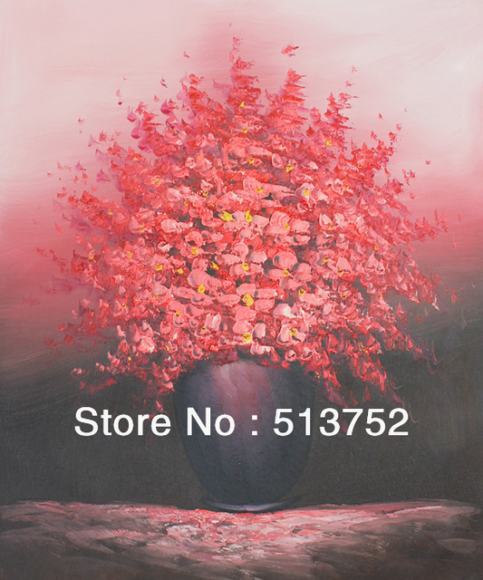 Oil Painting Wall Panels Large Piece Canvas Art Red Flower Prints
