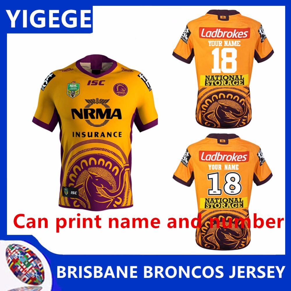 0450c7600 BRONCOS 2018 INDIGENOUS JERSEY 2019 National Rugby League Brisbane Home  Rugby jersey