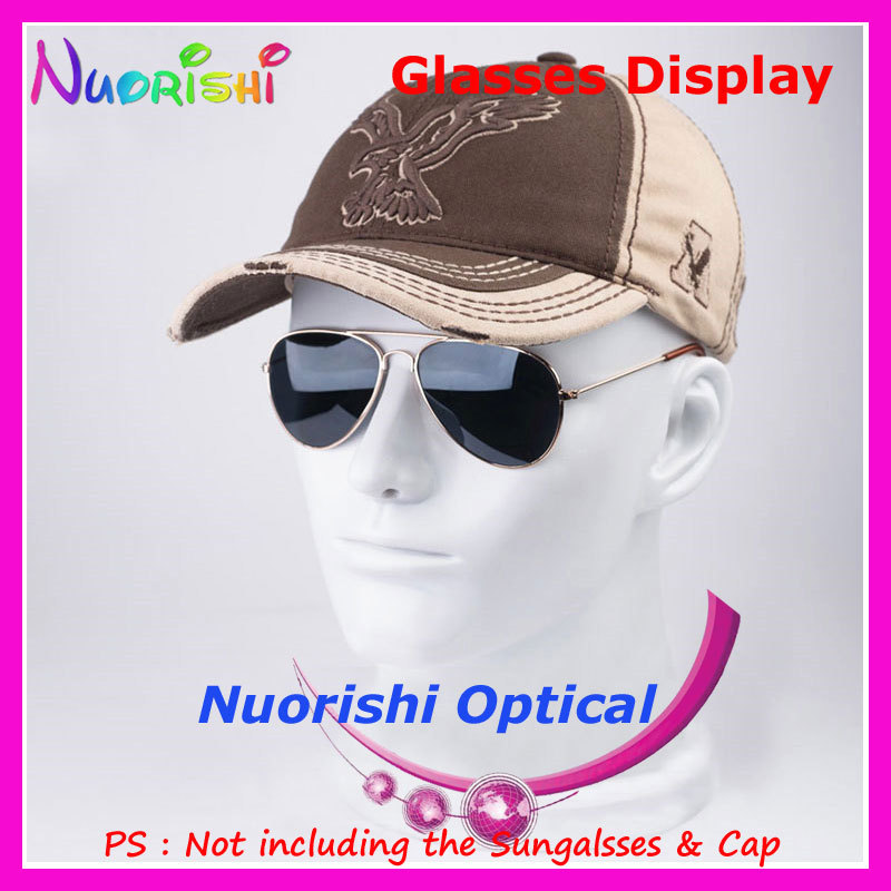 8 Colors Head Mold Model Display Stands For Showing Eyeglass Sunglasses Eyewear Glasses Cap Headphone Holder CK103 Free Shipping