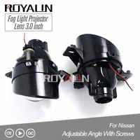 ROYALIN para Nissan ajustable H11 faros antiniebla lente Bixenon D2S lámpara proyector HID Full Metal lentes coche Auto D2H bombillas readaptación