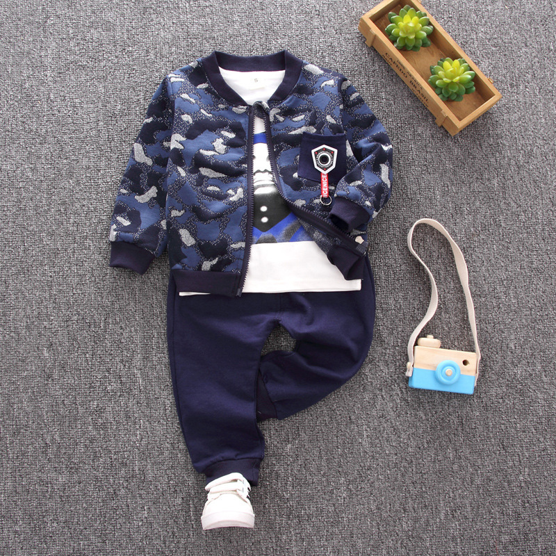 BibiCola Chidren Kids Boys Clothing Set Autumn Winter 3 Piece fashion Cardigan +tops +pants Suits Fall Cotton Baby Boys Clothes new original dvp04ad h2 plc analog module eh2 series 24vdc 4ai