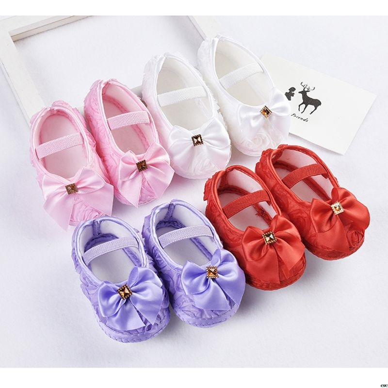 Princess Baby Shoes Soft Sole Material Shoes Anti Slip Crib Shoes Sneaker Prewalker Toddler Kid 0-18M