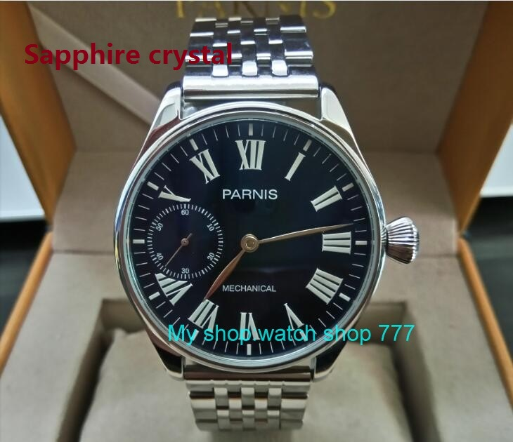 Sapphire crystal 44mm PARNIS Asian 17 jewels ST3600/6497 Mechanical Hand Wind movement Luminous blue dial mens watches sdgd44ASapphire crystal 44mm PARNIS Asian 17 jewels ST3600/6497 Mechanical Hand Wind movement Luminous blue dial mens watches sdgd44A