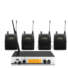 No Monitor de Ouvido Sem Fio Sistema EW300 IEM Monitoramento Profissional para o Desempenho Do Estágio Único transmissor 4 receptores