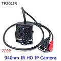 Mini Câmera HD 1.0 MP P2P HD 720 p IR 940Nm Noite Versão Câmera IP Cam Vigilância IP55 para Celular telefone