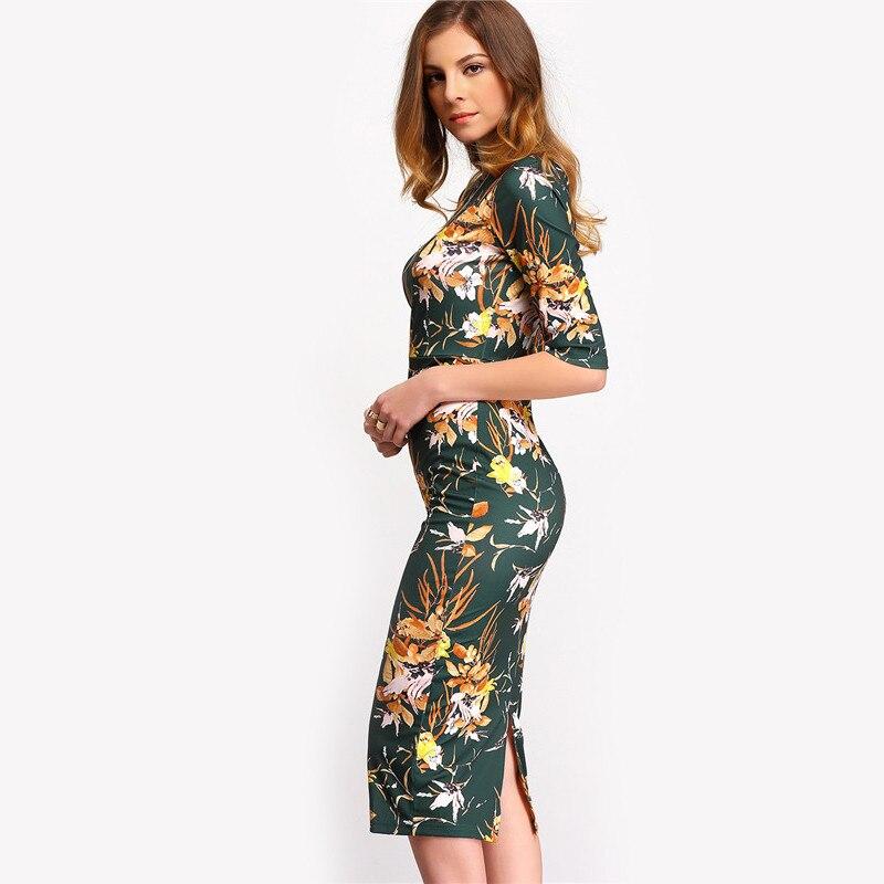 Платье карандаш цветочное