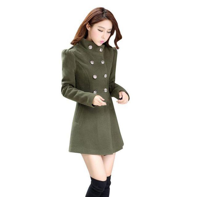 2017 Female Sweet Stand Collar Women's Down Jacket Women Clothing Winter Coat Women Solid Long Sleeve Coat 3