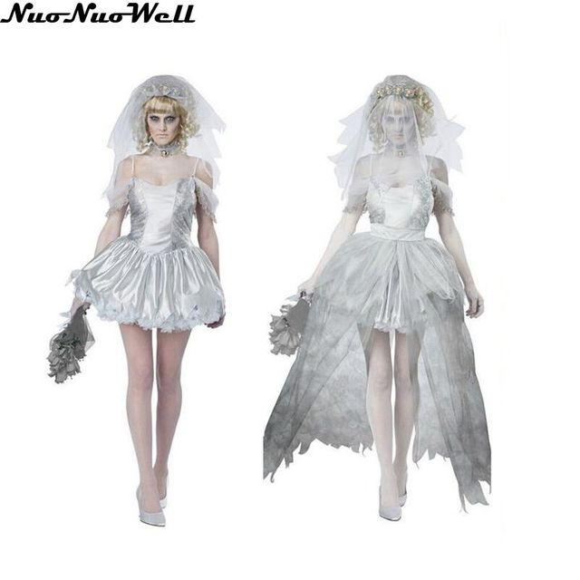 women vampire zombie dress decadent ghost dead bride costumes halloween wedding scary costumes game uniforms role