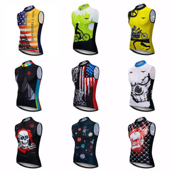 2019 Bike Sleeveless Cycling Vest Men Mountain Bike Jersey Ropa Maillot Ciclismo Racing Bicycle Clothing Road MTB Top Summer Red
