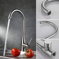 MOIIO Brushed Nickel Kitchen Sink Faucet Brass Mixer Tap/Faucet for Bar Sink with Swivel Spout Aerator Sprayer