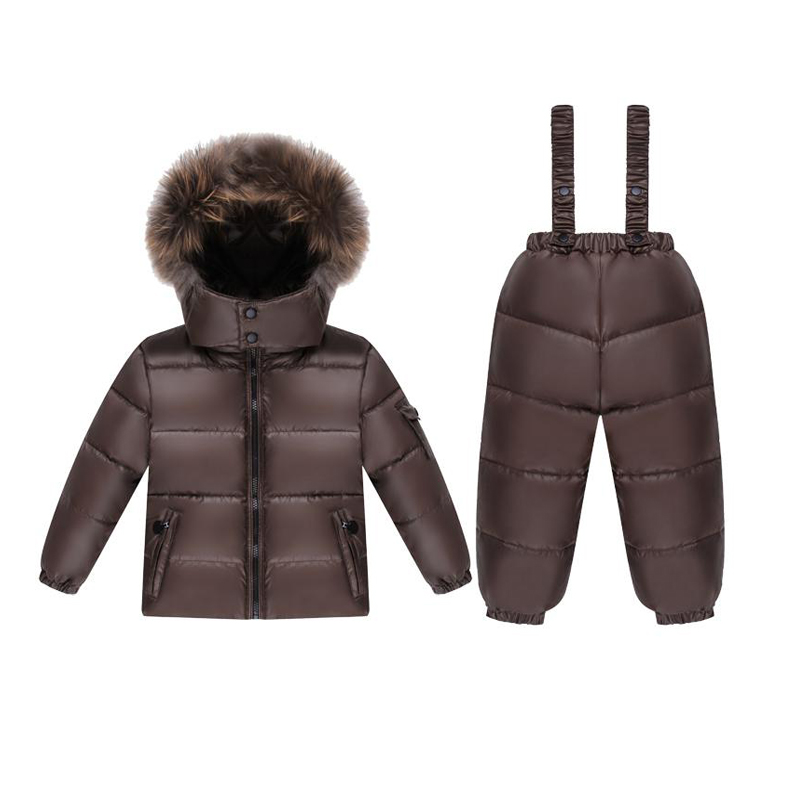 Russian winter Kids Clothes baby Boys Girls Winter Down Coat Children Warm Jackets Snowsuit Outerwear +Romper Clothing Set стоимость
