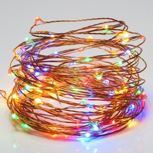 USB Operated 5V 10 Meter 100 led RGB Christmas Holiday Wedding Party Decoration Festival LED Copper Wire String Fairy Light Lamp