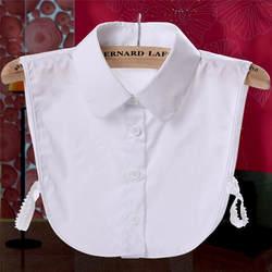 Однотонная одежда нагрудные блузка женская одежда Кружева съемный с лацканами колье Цепочки и ожерелья рубашка поддельные ложные воротник