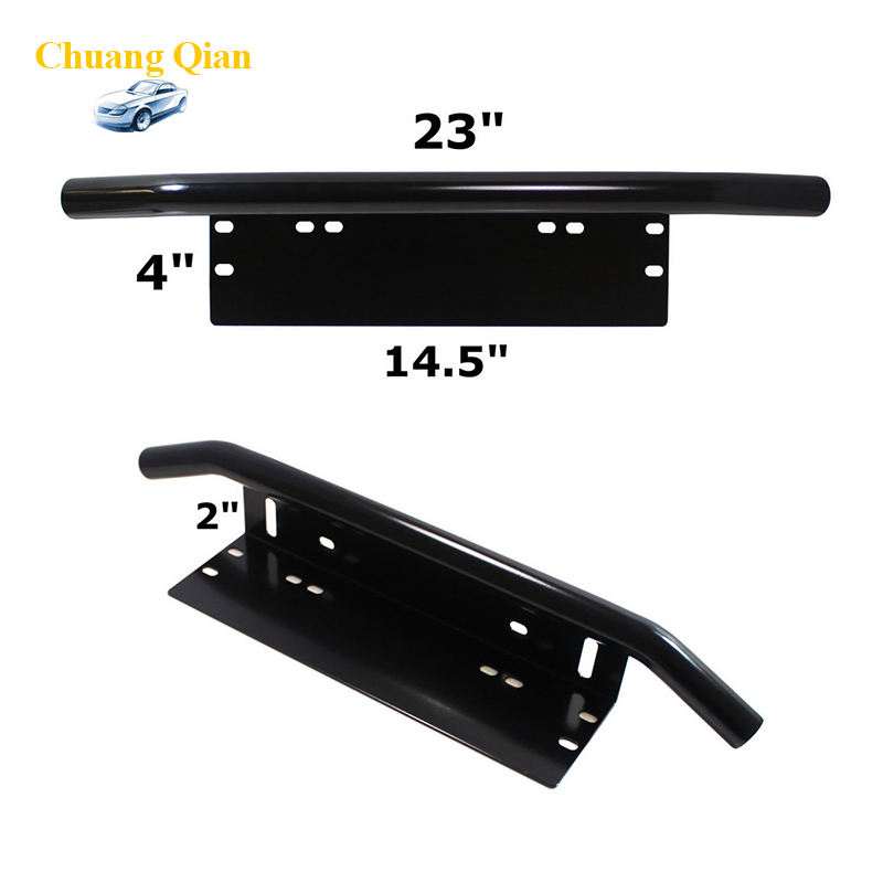 Chuang Qian Chuang Qian Bull Bar Front Bumper License Plate Mount Bracket Holder Offroad Light Bar For Jeep Wrangler JK luo qian yellow 40