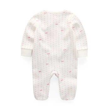 3/4/5Pcs/set 2019 Soft Cotton baby girls rompers Overalls de bebe newborn clothes Long Sleeve Baby Pajamas infantis boy clothing