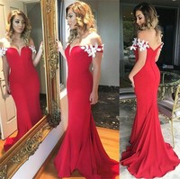 New Long Beautiful Evening Dresses 2018 Sweetheart Satin Red Backless Sexy Prom Party Gowns Cheap Free