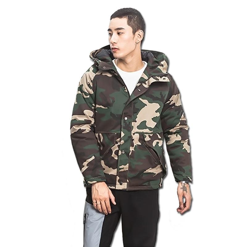 2016 Men Winter Camouflage Short Jacket Coats Outwear Jaqueta Masculina Men s Casual Fashion Slim Fit