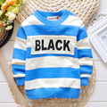 2016 New Arrival Baby Boy girl t Shirt Fashion letter Print striped Brand Shirts For Kids Infantil high Quality