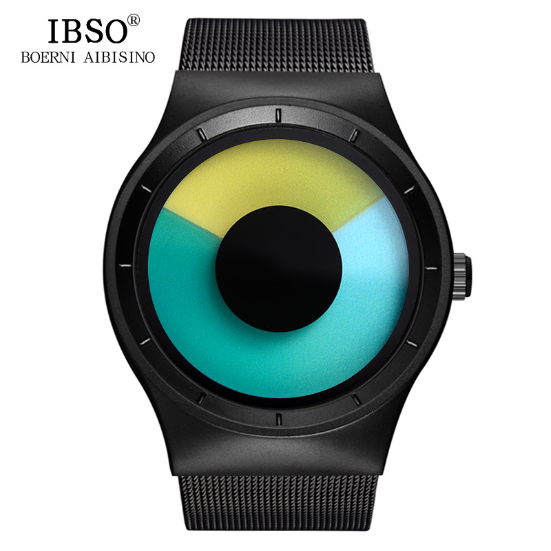 IBSO Creative Men Watches 2018 Top Brand Luxury Stainless Steel Wristwatch Mens Quartz Watch Male Clock Relogio Masculino watches men luxury brand chronograph quartz watch stainless steel mens wristwatches relogio masculino clock male hodinky