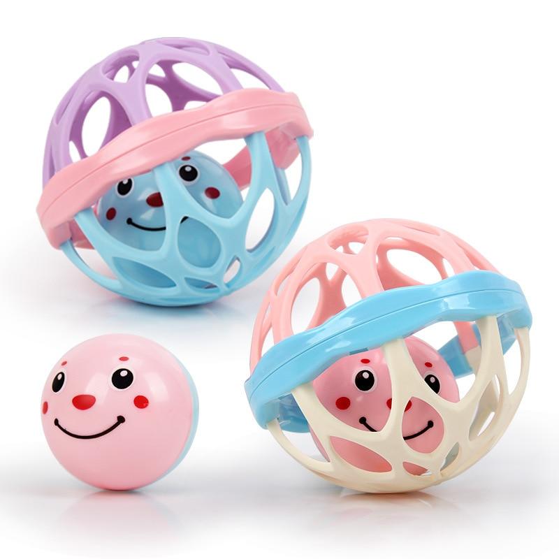 New Born Bites Montessori ABS Balls Toy Macarons Baby Rattles Crib Toys Mobiles For Kids Baby Toys T0148