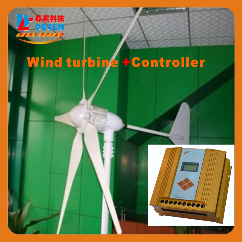 MAYLAR @ 1PC 600W 5 Blades High Efficiency Wind Generator Small Size Low Weight. Low Noise Easy Install +1 PC MPPT Controller