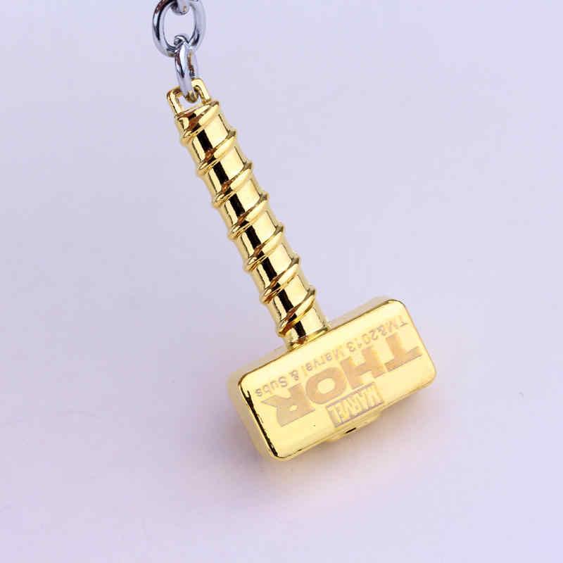 Dongsheng Marvel Avengers Thor Martelo mjolnir Thor Brinquedo Keychain Chaveiro Chaveiros Cadeia Homens Jóias Fãs Acessório-50