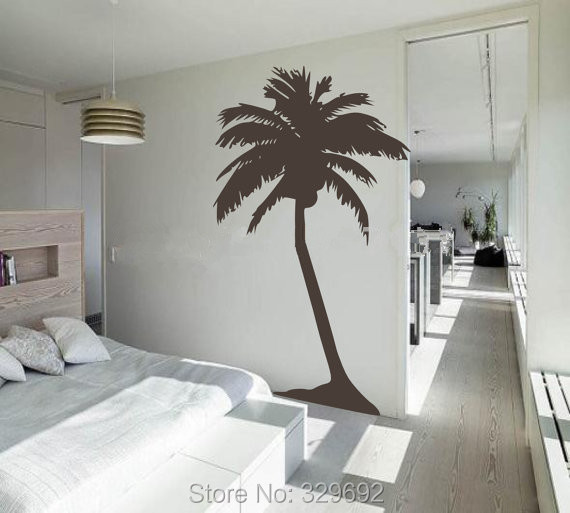 Free Shipping Large Palm Tree Wall Sticker Living Room Tropical
