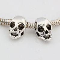 Hot ! 15 pcs Antique silver Smiley face Big Hole Beads for Charm Bracelets ilia & Biagi Bracelet 10x10x6mm nm520