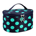 Hot Fashion Cute Dots Women Makeup Bag Case Zipper Travel Women Make Up Bags Casual Cosmetic Bag 2016