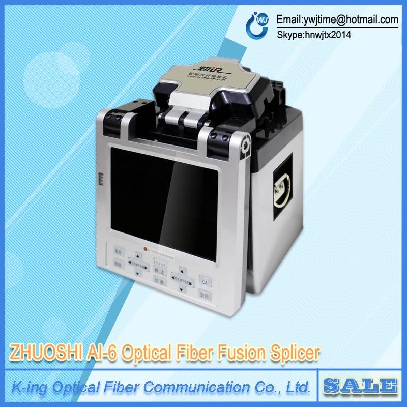 Factory direct sale DHL EMS AI 6 SM MM Automatic FTTH Fiber Optic Splicing Machine Optical