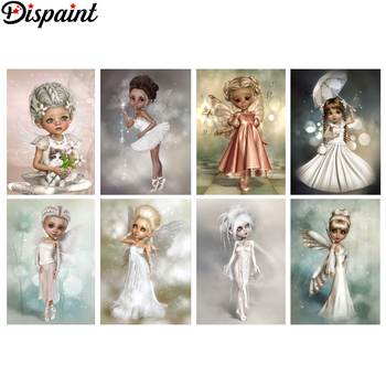 Dispaint Full Square/Round Drill 5D DIY Diamond Painting Cartoon beauty 3D Embroidery Cross Stitch Home Decor Gift