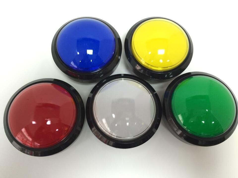 Выпуклые кнопки 100 мм, большой освещенный ключ, развлекательные детали, аксессуары для видеоигр, кнопочные переключатели с микропереключат...