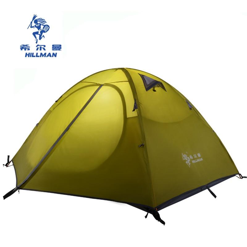 Hillman 2 Person Professional Double Layer Aluminum Poles Waterproof Windproof Camping Tent Barraca Beach Tent цена