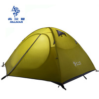 Hillman 2 Person Professional Double Layer Aluminum Poles Waterproof Windproof Camping Tent Barraca Beach Tent
