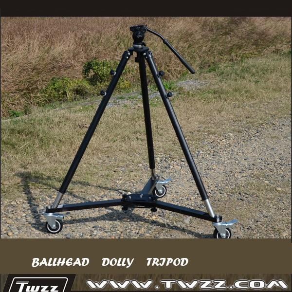 Twzz Professional 3 Wheels Dolly Ballhead font b Tripod b font For font b Camera b