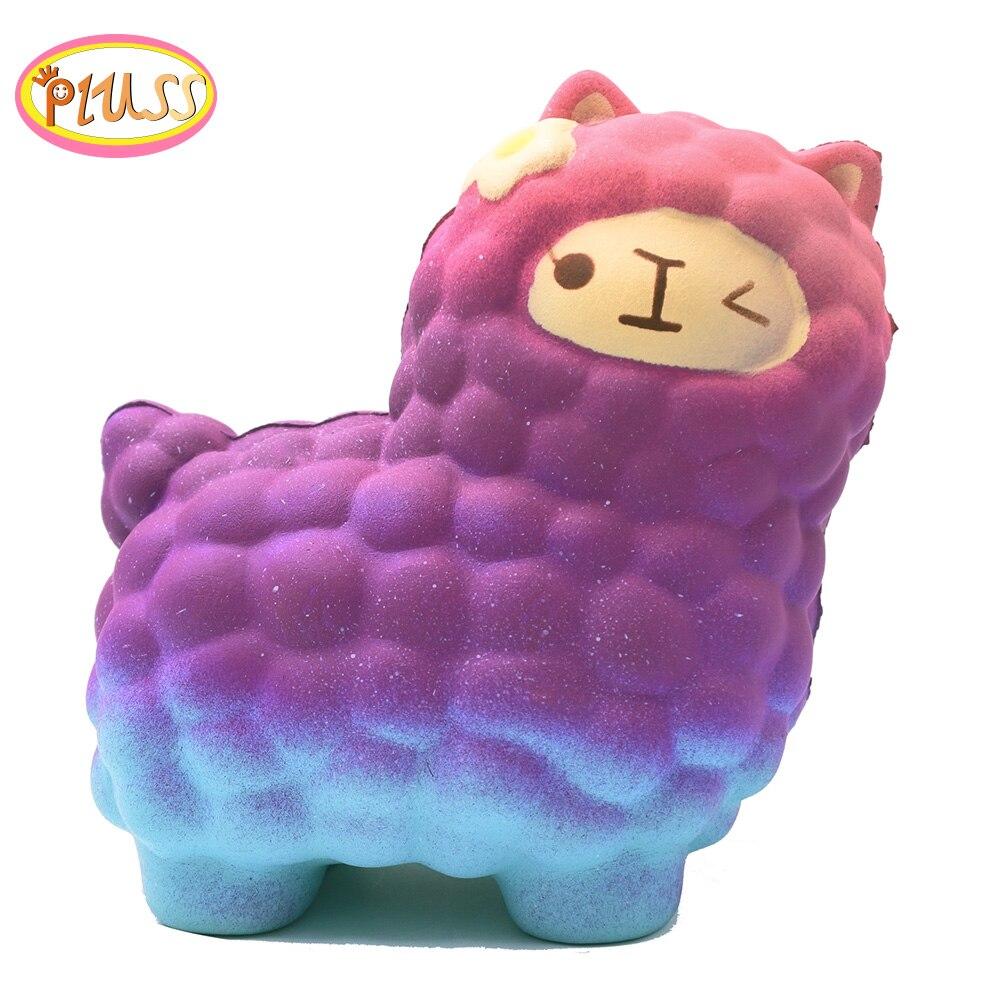 Animal Squishy Soft Alpaca Cute Squishi Sheep Toys Squishies Squeeze Jumbo Slow Rising Anti Strees Toy PU Foam Kids Funny Gifts