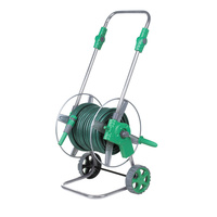 Metal Anti rust Hand Push Water Pipe Frame 30m Hose Reels Water Gun Set 1/2 Inch High Pressure Flower Wash Car