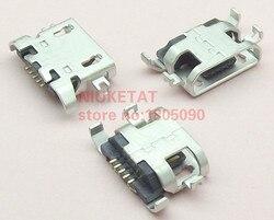 50 шт., Micro USB 5pin Тяжелая пластина 1,28 мм плоский рот без закручивания, гнездовой разъем для lenovo A850, мобильный телефон, мини USB разъем