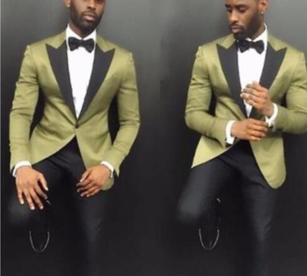 2018 Slim Fit One Button Groom Tuxedos Groomsman Best Man Party Men Green Suits Mens Business Formal Wear (Jacket+Pants+Vest)