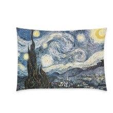 Dr. Doctor Who de Vincent Van Gogh Noche Estrellada Estilo Oficina Throw Pillow Caso de La Cubierta de Moda Personalizada Dos Caras de Impresión