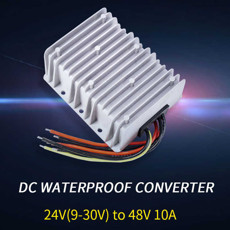 24V (9-30) 48V 10A Langkah Up DC DC Converter BOOST Regulator IP68 Tahan Air Regulator Power Supply untuk Toy Car LED mobil Golf