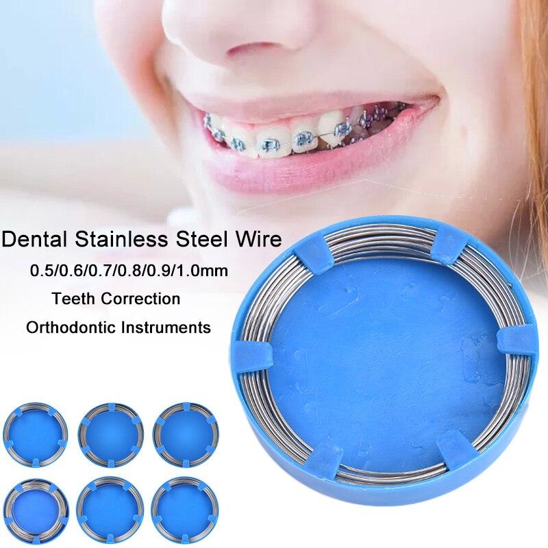 Зубная проволока из нержавеющей стали 0,5-1,0 мм для профессиональных стоматологических инструментов для коррекции зубов