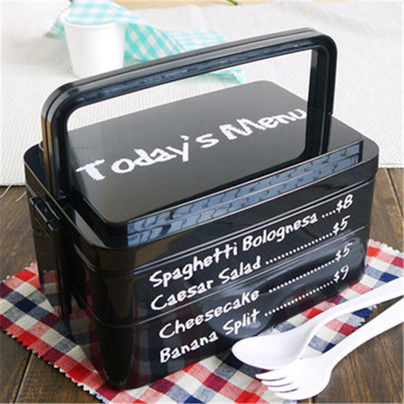 Fashion Three Layer Rectangle Container Eco Friendly Lunchbox Bento Container For Food Dinnerware Sets Promotion Use