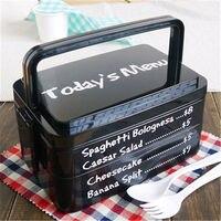 Moda Üç-Katmanlı Dikdörtgen Konteyner Çevre Dostu Lunchbox Bento Konteyner Gıda Yemek Setleri Promosyon Kullanım Için
