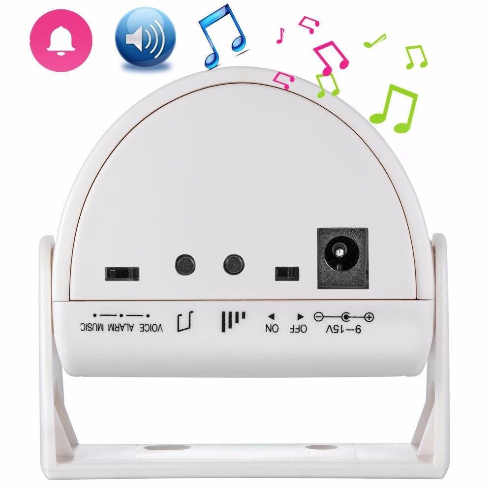 TRINIDAD WOLF inalámbrico timbre Bienvenido invitado Chime alarma PIR Sensor de movimiento para la tienda seguridad entrada timbre Detector infrarrojo