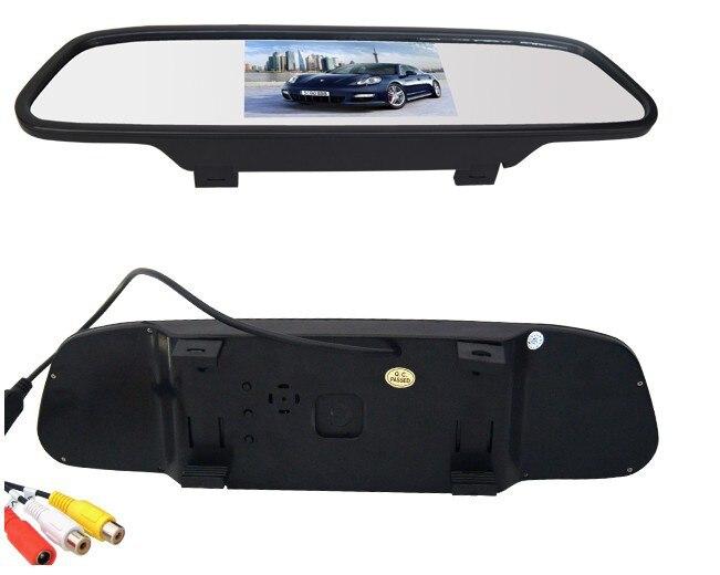 Заводская акция, новинка, 4,3 дюймов монитор заднего вида, Автомобильное зеркало заднего вида для CCD камеры, камера