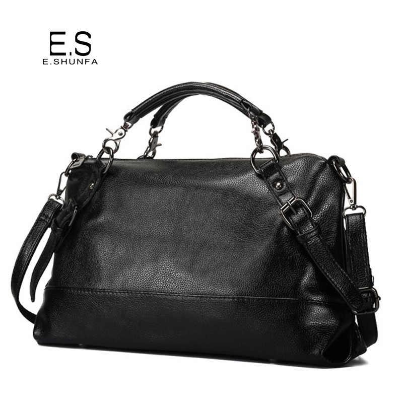 4bb8a099e55f Модная повседневная сумка-тоут женская сумка 2018 мягкая PU кожаная сумка  большой емкости на молнии