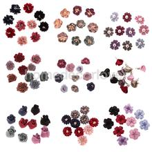 90pcs Sewing Fabric Flower Embellishments Trim for DIY Dress Hair Applique  Phone Case(China) d63d948f3fa8