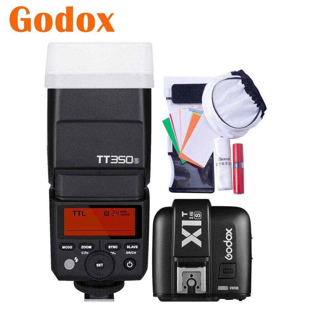 Godox TT350S TT350-S 2.4G HSS GN36 Camera Flash Speedlight X1T-S Transmitter Trigger For Sony Mirrorless Camera A6000 A6500